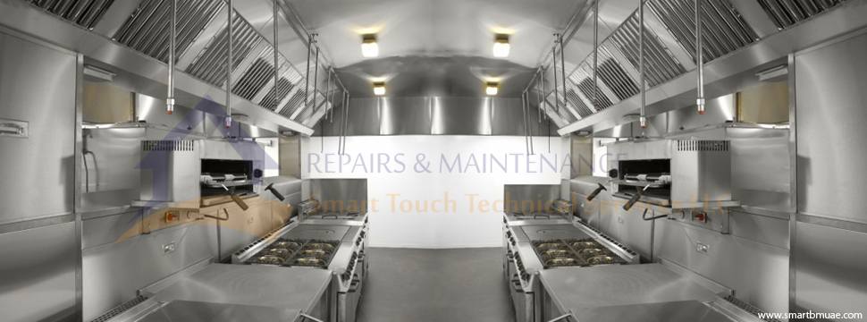 Kitchen duct exhaust hood cleaning and maintenance for Kitchen companies dubai